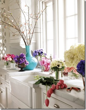 flowers in kitchen